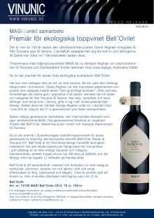 Premiär för ekologiska toppvinet Bell'Ovile!