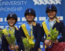 Guld till Lundastudenten Fanny Götesson från Blekinge på Student-VM i ridsport på Flyinge
