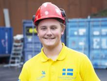 Oscar Eriksson, Sh bygg, sten och anläggning AB tävlar i Yrkes-VM
