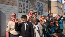 Scouts put local community in the picture at Stechford station