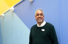 Monzer är stolt över Bergsjöskolan  och sina elever