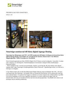 Smartsign nominerad till bästa digital signage-lösning