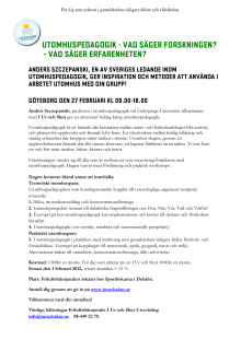 I Ur och Skur föreläsning i Göteborg/Örgryte 27 februari 9-16