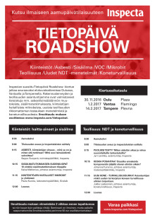 Tietopäivä Roadshow kutsu Oulu, Vantaa, Tampere