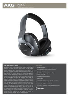 AKG N700NC Wireless_Spec sheet