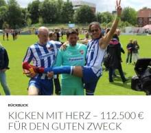 Rückblick: Kicken mit Herz – 112.500 € für den guten Zweck