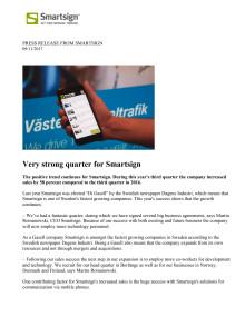 Very strong quarter for Smartsign