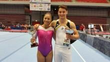 Marcela Torres och Michael Trane försvarar SM-guld i artistisk gymnastik