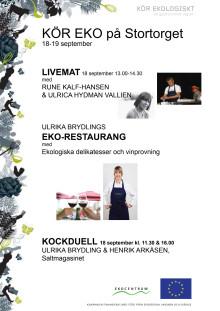 Live-mat, ekorestaurang och kockdueller i Kalmar 18-19/9