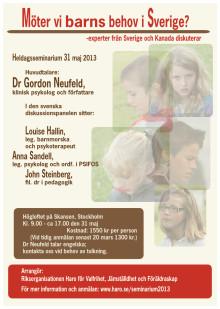 Möter vi barns behov i Sverige? - Kerstin Uvnäs-Moberg ny paneldeltagare
