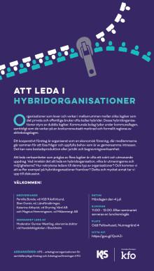 Inbjudan till seminarium om Hybridledarskap - Almedalen 2016