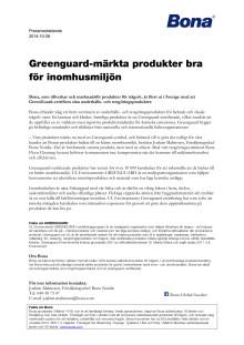 Greenguard-märkta produkter bra för inomhusmiljön