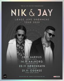 Nik & Jay lever drømmene ud med arena-tour til november