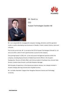 CV David Liu, VD Huawei Technologies Sweden AB
