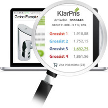 Hantverksdata i samarbete med KlarPris