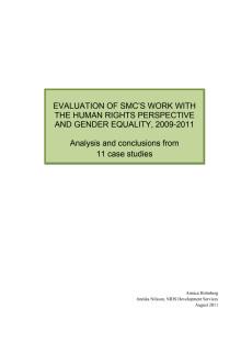 Utvärdering av Svenska missionsrådets arbete med rättigheter