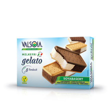 Valsoia Sandwich – ny herlig 100 % vegansk is!