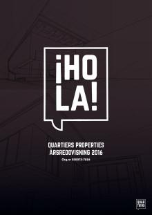Quartiers Properties  - Årsredovisning för 2016