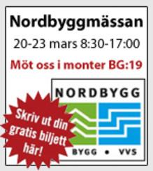 Nordbyggmässan 20-23 mars 2012