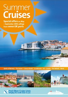 Great savings on offer in Fred. Olsen Cruise Lines' new 'Summer Cruises' brochure