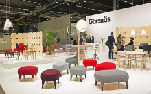 Gärsnäs exhibition stand designed by Färg & Blanche, stand A11:20