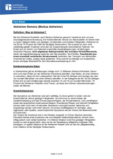 Fact Sheet Alzheimer