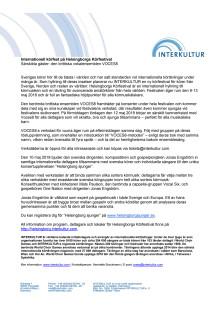 Pressmeddelande om Helsingborgs Körfestival från Interkultur