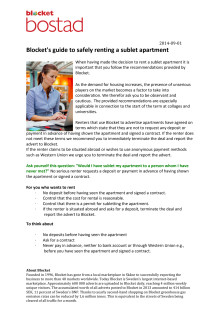 Blocket's guide to safely renting a sublet apartment