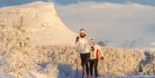 Lagrad snö från vintertid ger höstskidor unikt tidigt glid