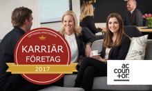 Accountor utsett till karriärföretag 2017
