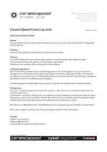 CeramicSpeed Cross Cup Regler