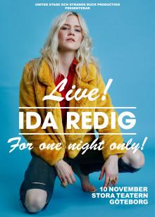 Ida Redig gör exklusiv soloshow på Stora Teatern i Göteborg