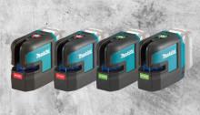Makita lanserar två gröna och två röda lasermätare på 12V