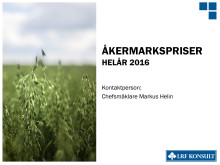 Rapport Åkermarkspriser helår 2016