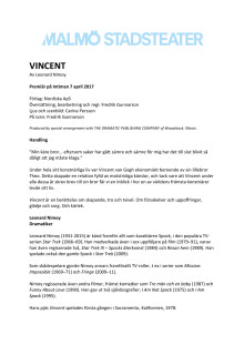 Pressmaterial till Vincent
