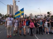 Svenska ungdomar med kardinal Arborelius och påve Franciskus på Världsungdomsdagarna i Panama