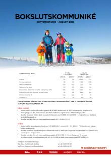 SkiStars Bokslutskommuniké 2014-15