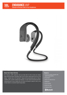 JBL Endurance JUMP Spec Sheet