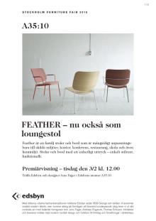 Feather – nu också som loungestol