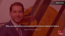 Put practical performance ahead of talent, advocates consultant Josh Cote