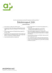 Akademiska Hus bokslutsrapport 2010