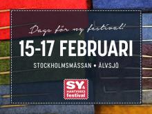 Inspiration till återbruk på Sy- & Hantverksfestivalen på Stockholmsmässan 15–17 februari