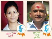 And the winner is… Hermann-Gmeiner-Preis 2014 geht an Maya Dhal und Deepak KC / Fast 90.000 Stimmen aus aller Welt eingegangen