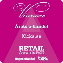 """KICKS vinnare av """"Årets e-handel"""" på Retail Awards 2013!"""