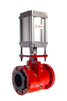 Flowrox PVG valve now available with a pneumatic actuator!