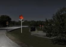 Eldsblommor ska smycka järnvägsviadukten i Härnösand
