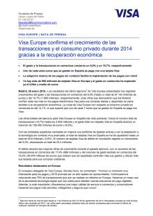 Presentación Resultados Anuales Visa Europe Ejercicio 2013-2014 (Enero 2015)
