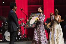 Jacqueline Woodson tog emot Litteraturpriset till Astrid Lindgrens minne 2018