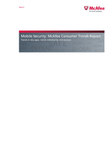 McAfee Mobile Trends Report