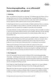 Partnerskap inom laboratoriemedicin - bakgrundsmaterial